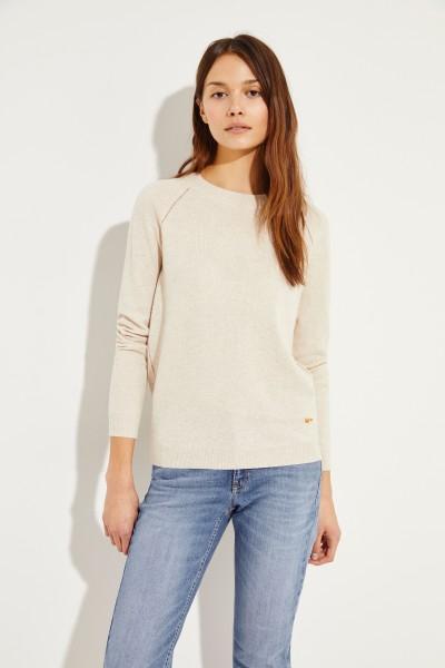 Pullover mit Schleifen-Detail Beige