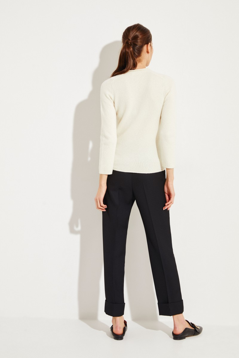 Cashmere-Pullover 'Rickie' Crémeweiß