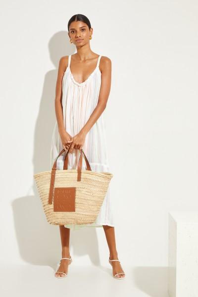 Baumwoll-Kleid 'Selata Open' Weiß/Multi