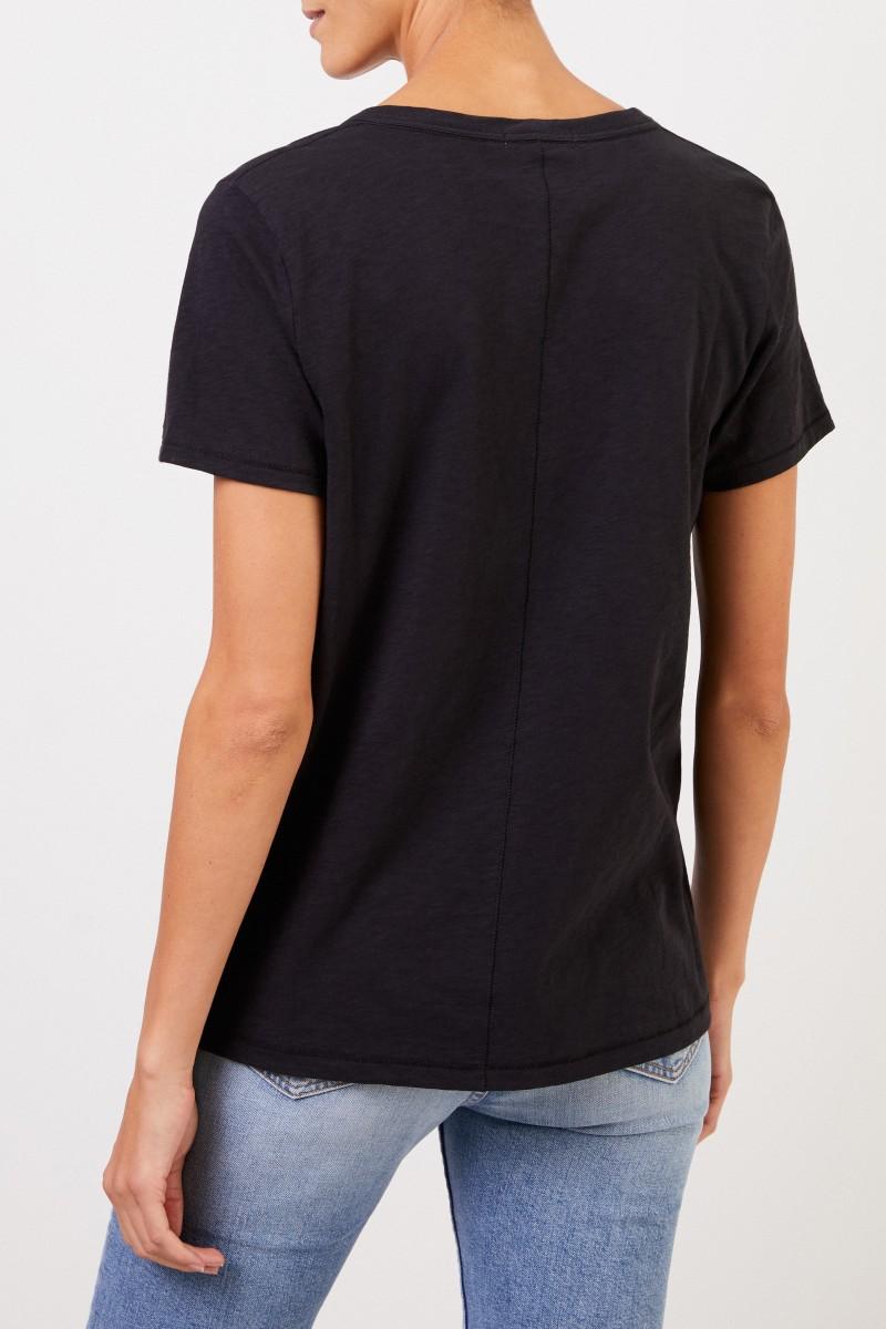 Rag&Bone T-Shirt 'The V' mit V-Neck Schwarz