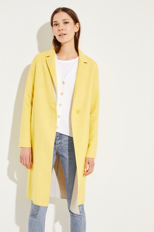 Woll-Mantel Gelb