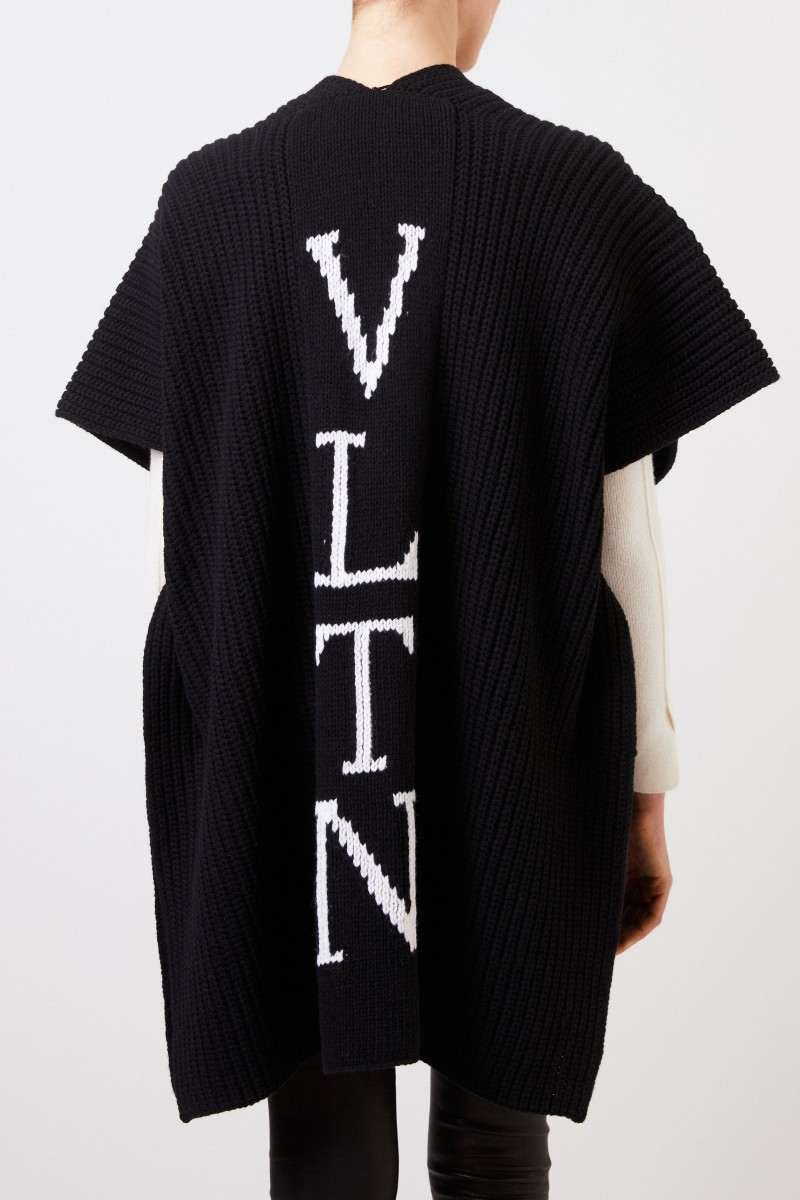 Valentino Strick-Cardigan 'VLTN' mit Logo Schwarz