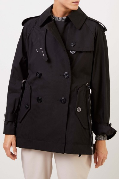 Sacai Trenchcoat with zippers Black