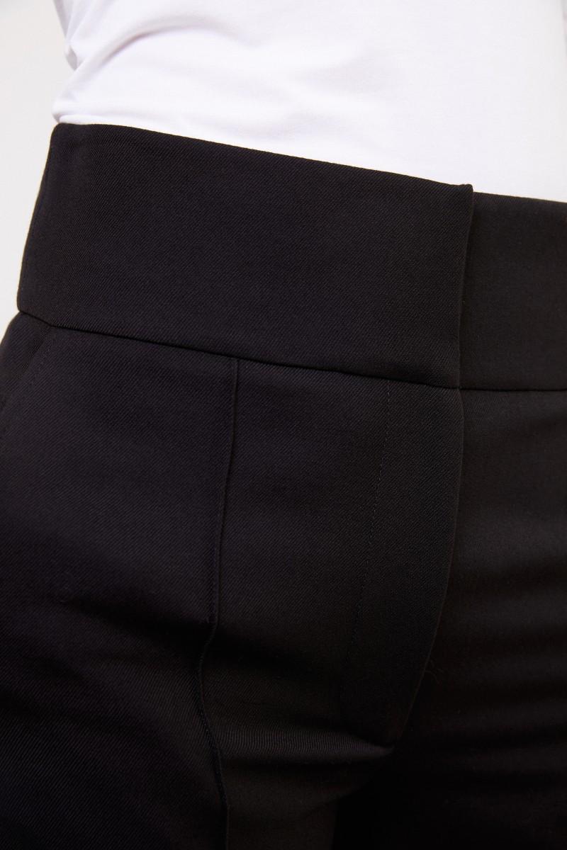 Stella McCartney Woll-Hose mit weitem Bein Schwarz