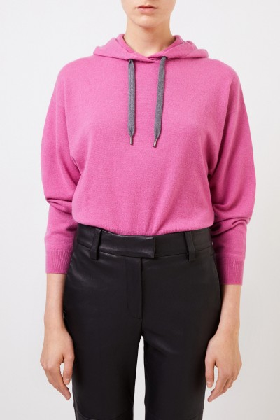 Brunello Cucinelli Cashmere-sweater with hood Pink