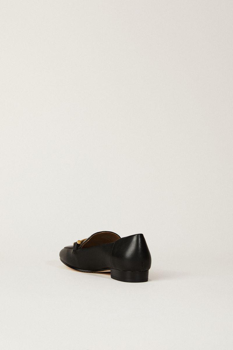 Leder-Loafer 'Amelia Loafer Schwarz