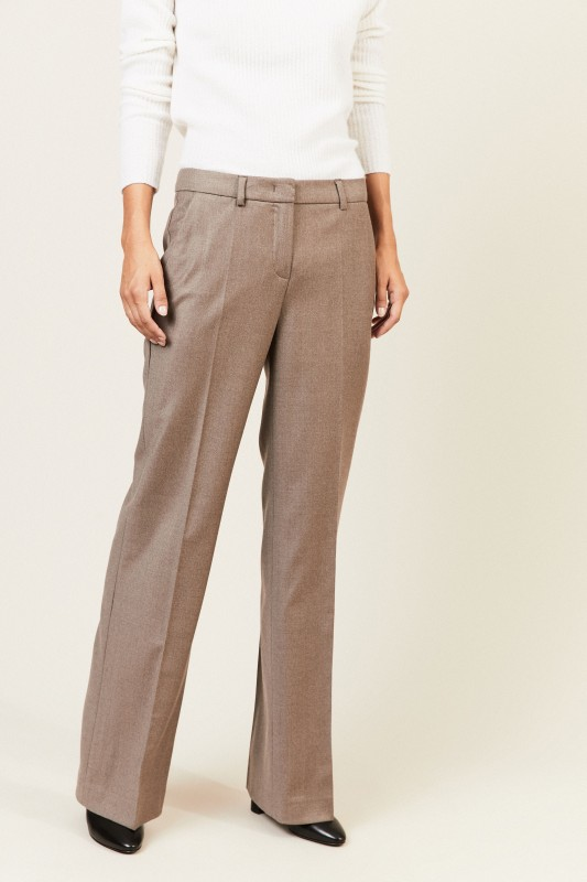 Woll-Hose 'Rooney' Taupe