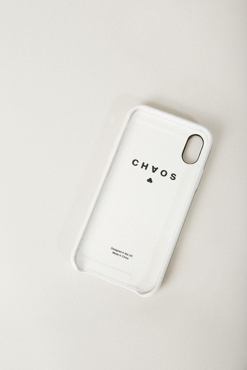 Iphone X Case 'Hand Hug' Weiß