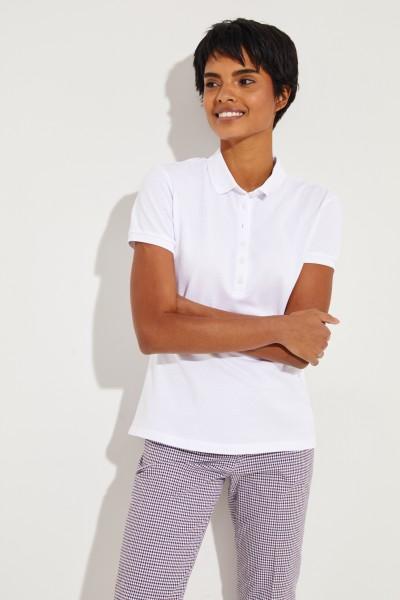 Baumwoll-Polo Weiß