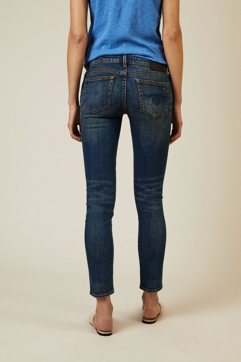 Skinny Jeans 'Kate Skinny' Used-Look Blau