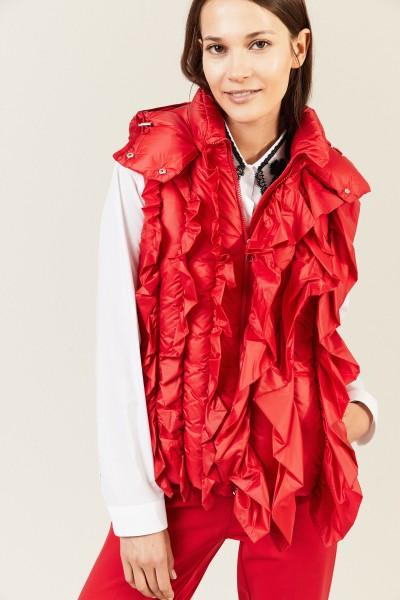 Weste mit Rüschen-Details 'Marianne' Rot