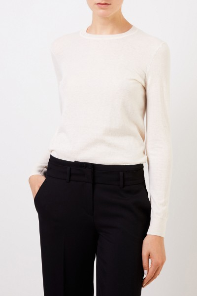 Tory Burch Cashmere pullover 'Iberia' with button details Cream