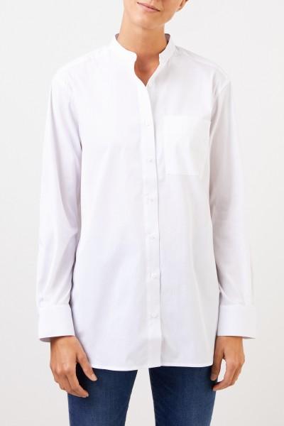 UZWEI Klassische Baumwoll-Bluse Weiß