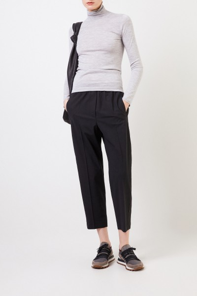 Wool pants with lurex details Anthracite