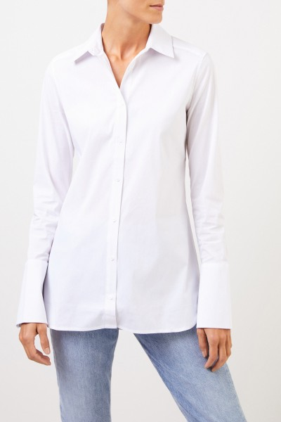 Uzwei Klassische Bluse mit breiten Manschetten Weiß