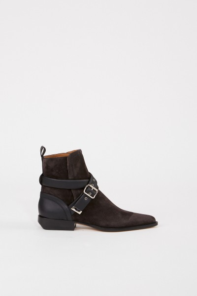 Chloé Suede leather ankle boots 'Verbania' Grey