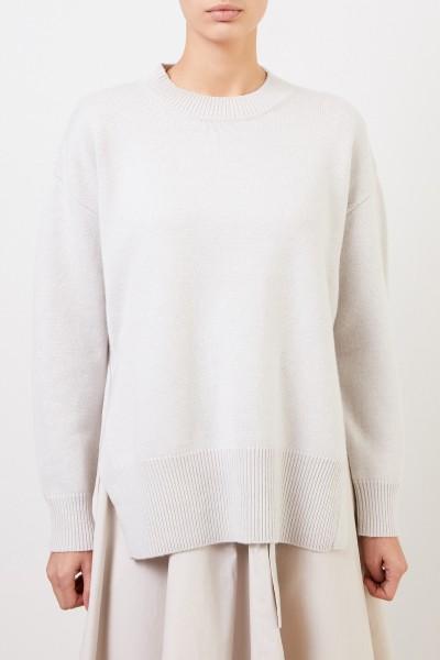 Co Woll-Cashmere Pullover mit Schaldetail Grau/Beige