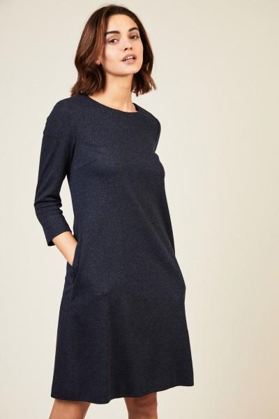 Kleid mit Zick-Zack-Muster Blau