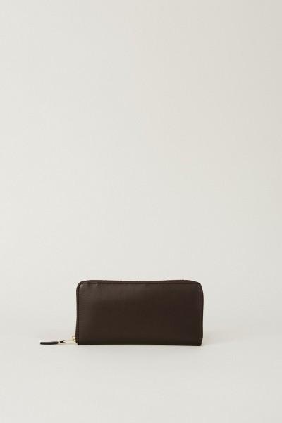 Leder-Portemonnaie Braun