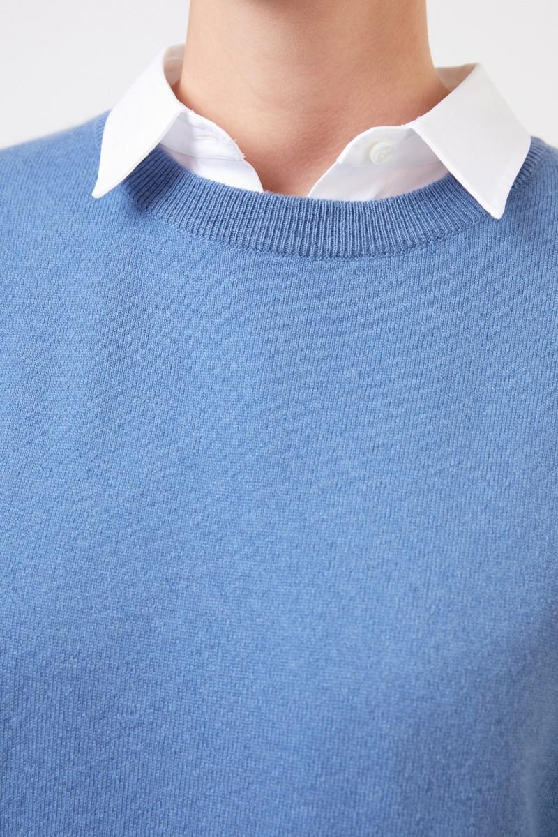 Brunello Cucinelli Klassischer Cashmere-Pullover Blau