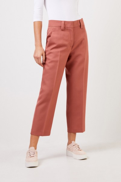 Acne Studios Classic wool trousers Rust