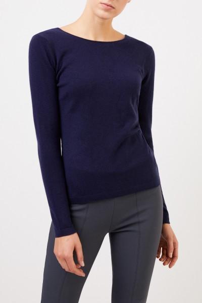 Allude Cashmere-Pullover mit Detail Marineblau
