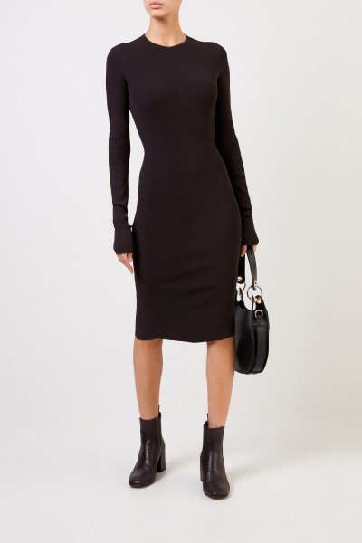 Bottega Veneta Knitted dress with structure Dark Brown