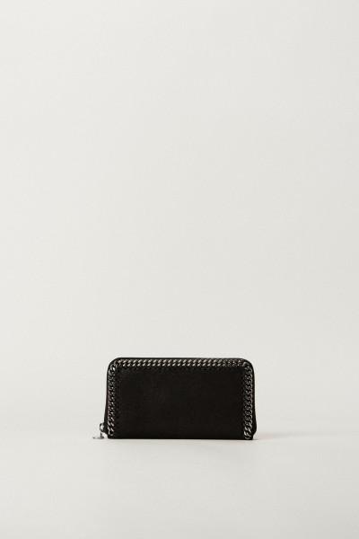 Portemonnaie mit Ketten-Verzierung Schwarz