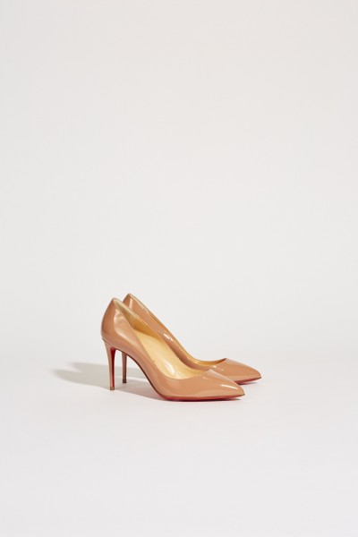 Lackleder-Pump 'Pigalle Follies 85' Nude