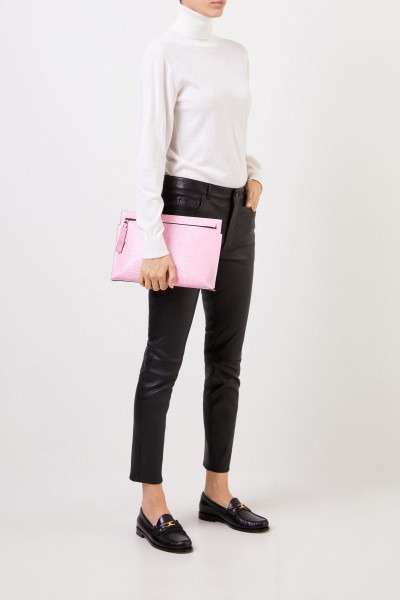 Loewe Clutch 'Pouch Repeat' with logo Pink