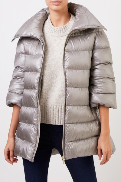 Herno Down jacket with shortened sleeves Grey