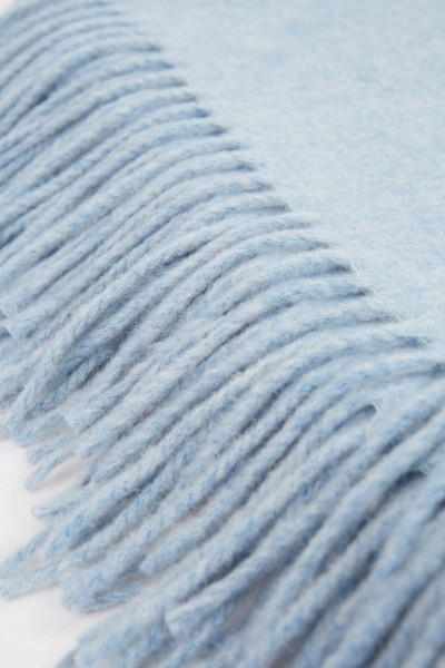 Acne Studios Classic wool scarf 'Canada New' Sky Blue Mottled