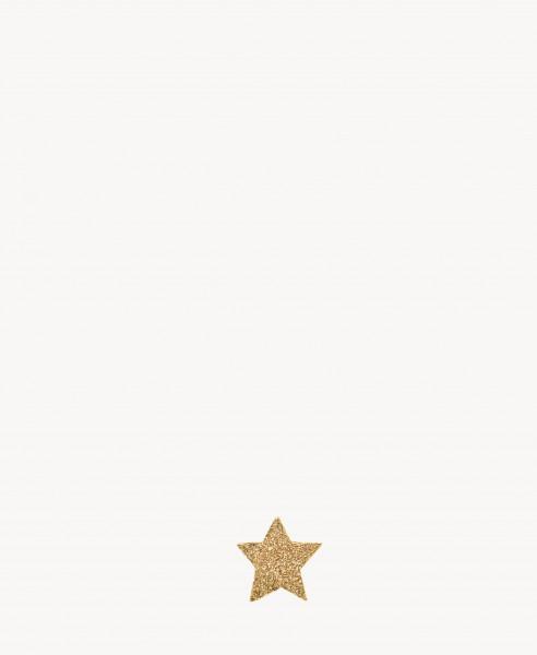 Sternenförmiger Ohrstecker 'Superstellar' 18 Karat Gelbgold