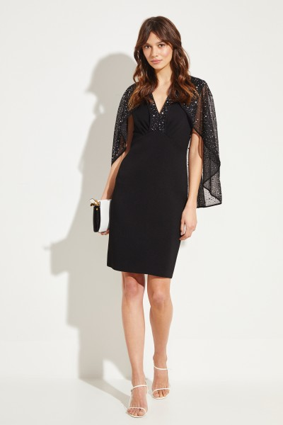 Givenchy Short dress with cape-detail Black