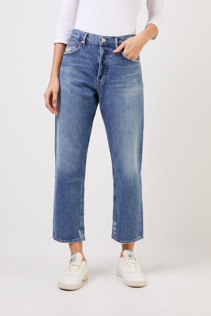 High Rise Jeans ' Parker' Blau