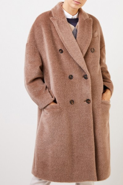 Brunello Cucinelli Alpaca wool coat Light Brown