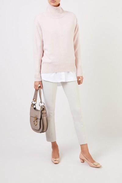 Cashmere-Pullover mit Turtleneck Rosé