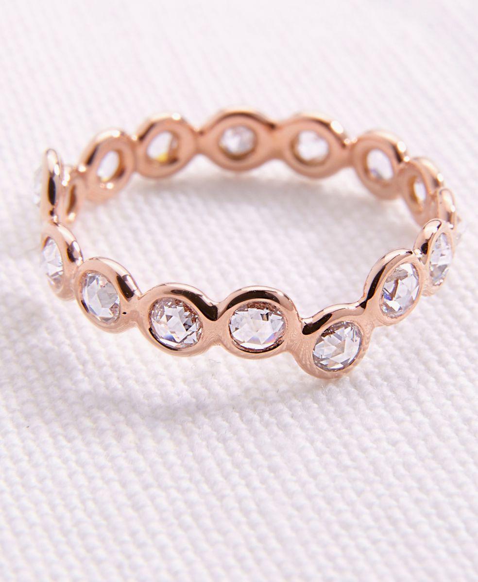 Ring 'Cardio 16' mit Diamanten 18 Kt. Roségold
