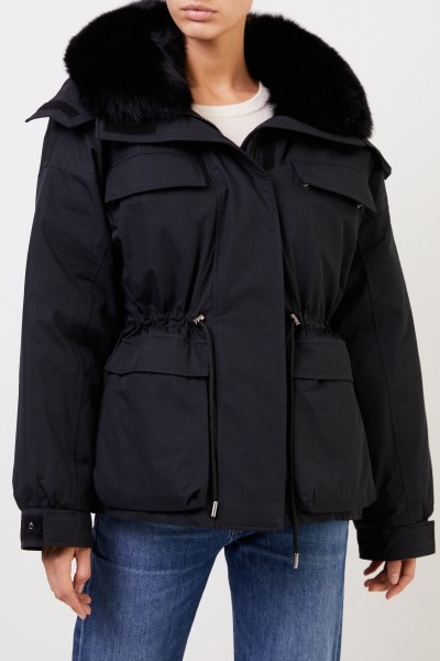 Army by Yves Salomon Down jacket with fur collar Black