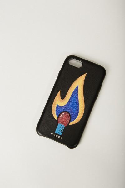 Iphone Case 7/8 mit rückseitigem Logodruck Schwarz