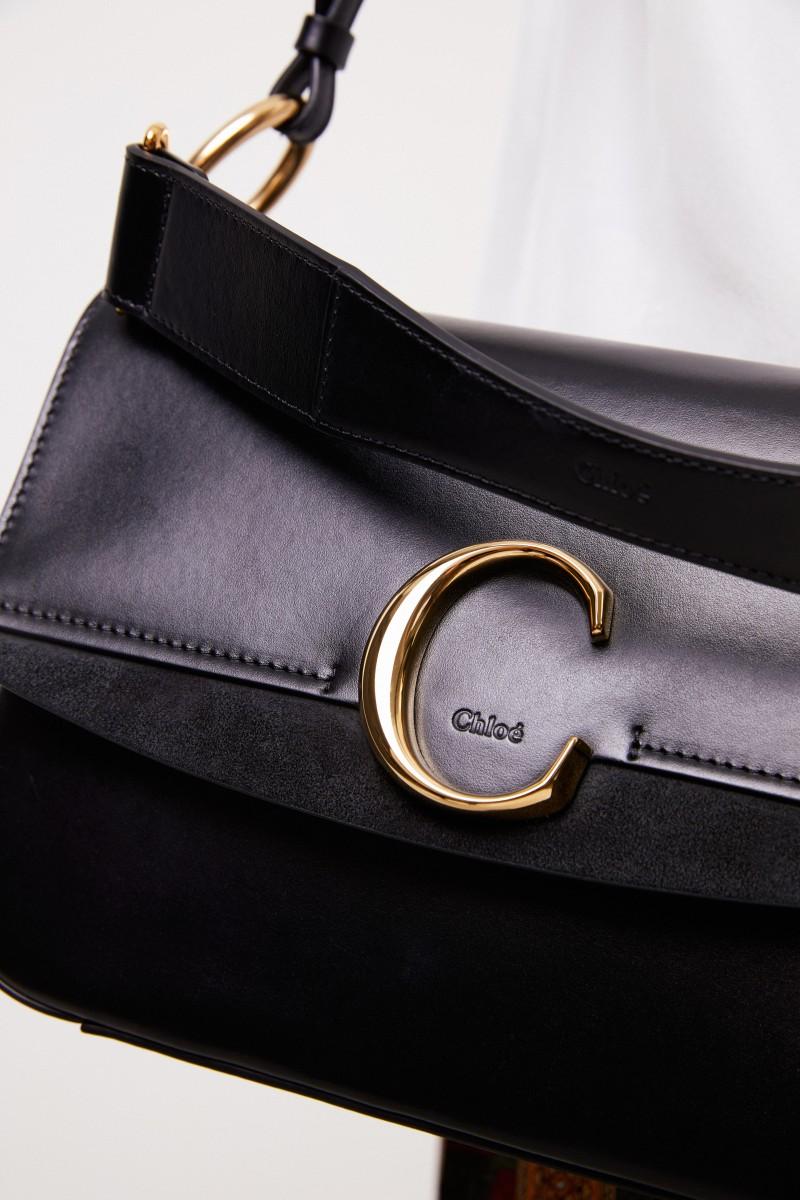 Chloé Tasche 'Chloé C Medium' Schwarz