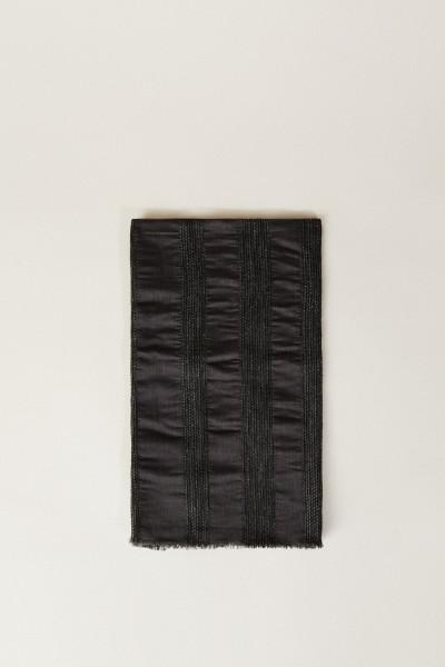 Woll-Seiden-Schal mit Glitzerdetails Grau