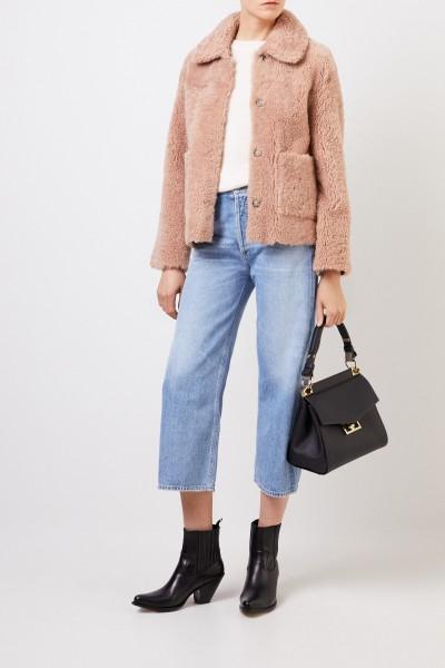 Benedetta Novi Reversible lambskin jacket 'Gaia' rosewood
