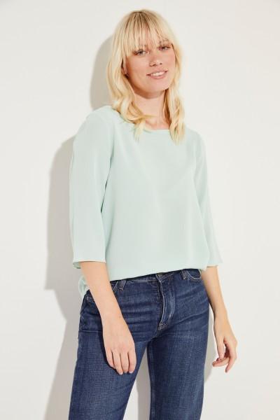 Seiden-Bluse 'Amber' mit 3/4-Arm Grün