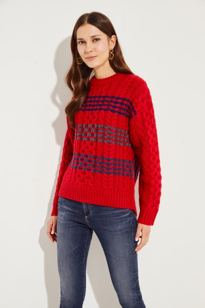 Woll-Pullover 'Mindy Crew' Rot