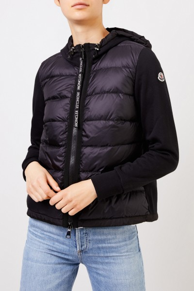 Moncler Down sweatjacket with hood Black