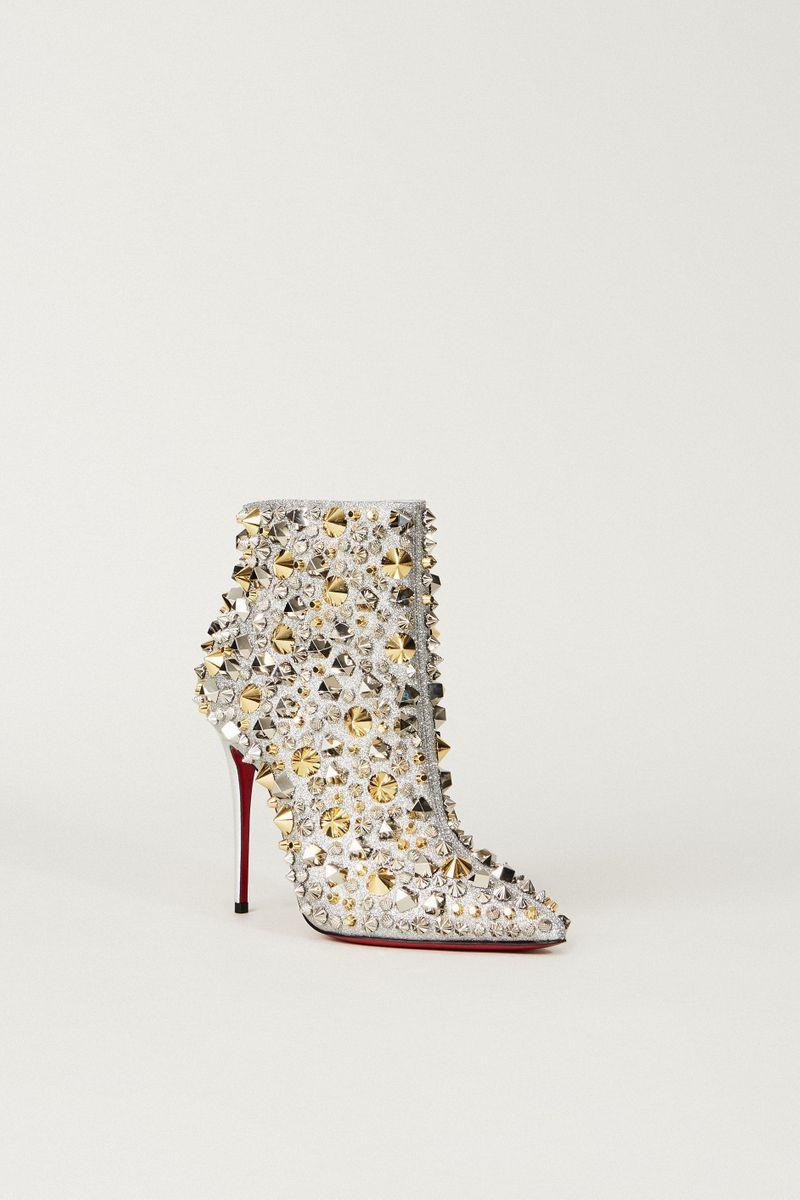 Ankle Boot 'So Full Kate' mit Nieten Silber/Gold