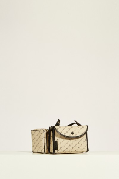 Belt bag with logo Beige/Black