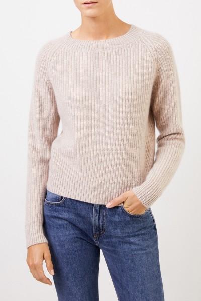 UZWEI Rippstrick-Cashmere-Pullover Beige