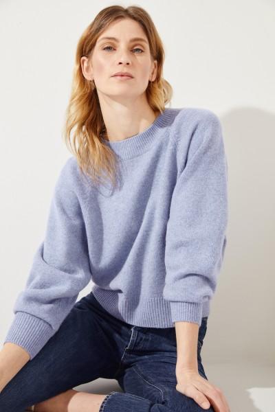 Woll-Cashmere Pullover Blau